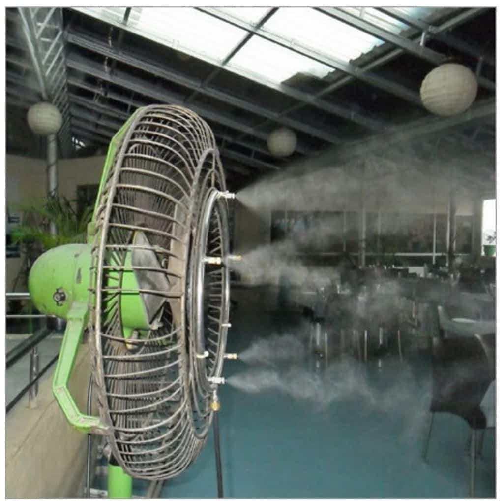 wall mist cooling fan in dubai