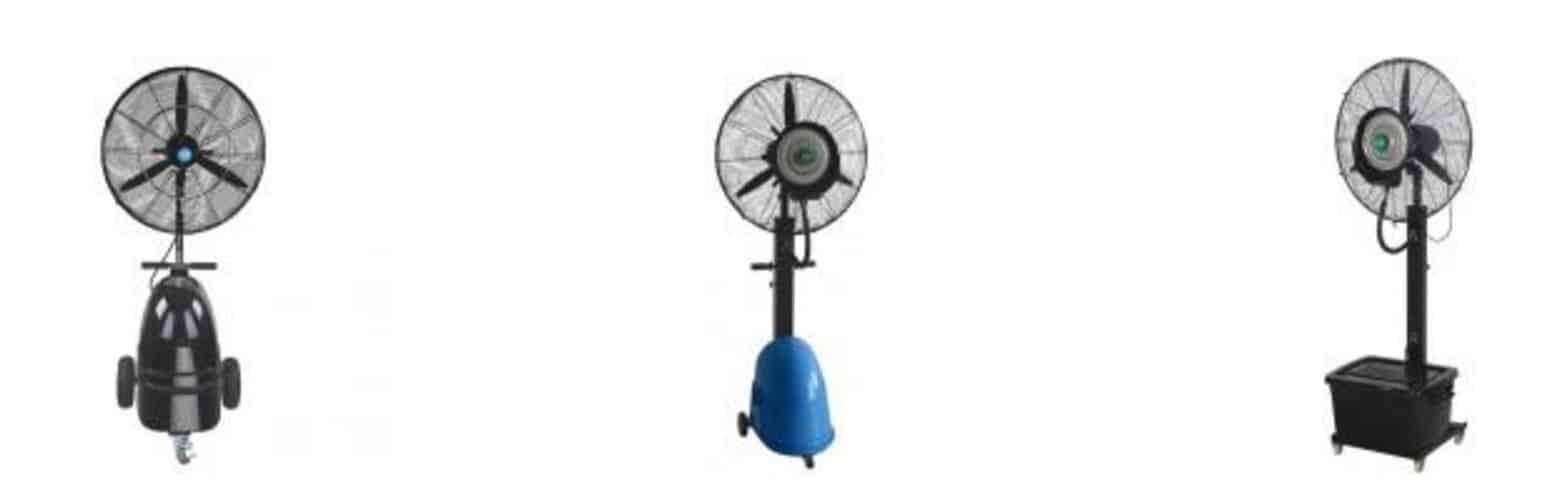 Portable misting fans